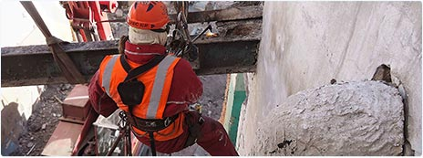 Демонтаж металлоконструкции на большой высоте